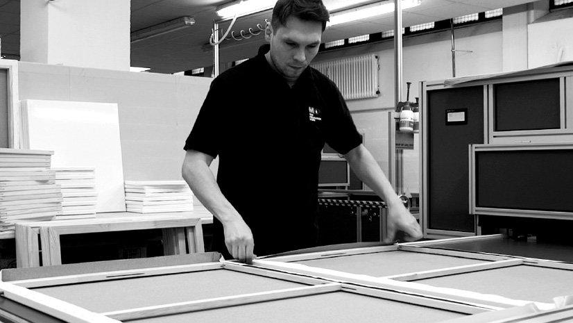 MHP Canvas production | MHP Leinwandbespannung