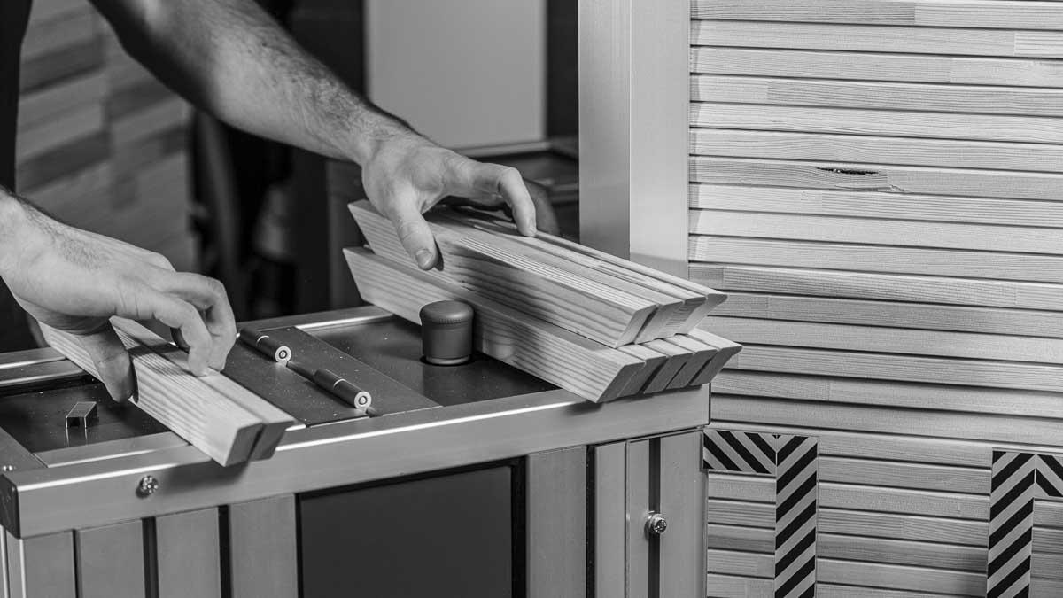 MHP VPLUG sorting bars at the machine | MHP VPLUG sortieren der Leisten auf der Maschine